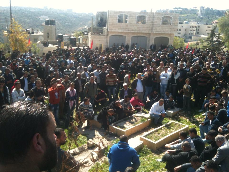 I funerali di Muatazz Washaha (Foto: Nena News)