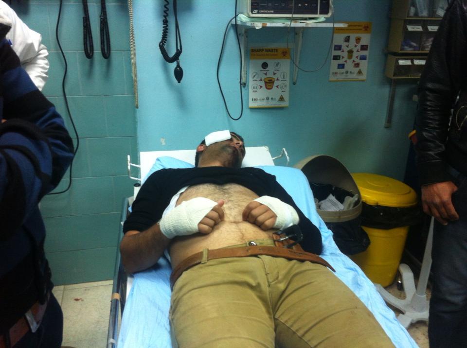 Yousef Shakarneh in ospedale