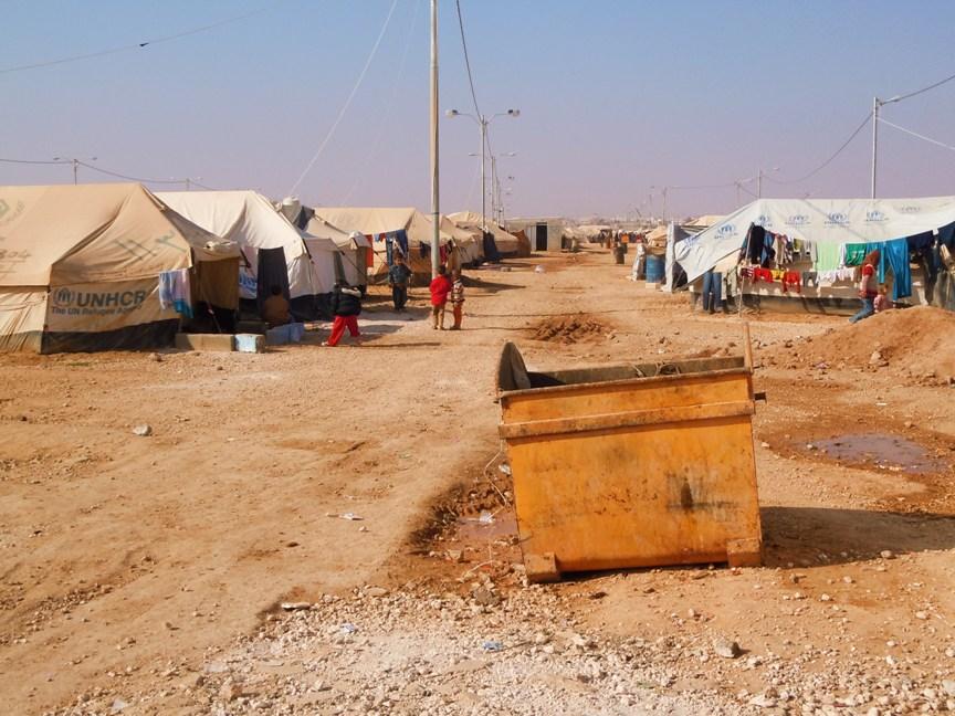 Il campo profughi di Zaatari (Foto: Anna Clementi/Nena News)