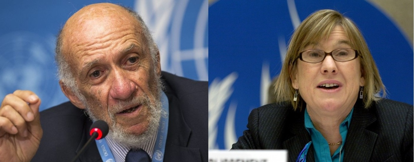 Richard Falk e la sua possibile sostituta, Christine Chinkin