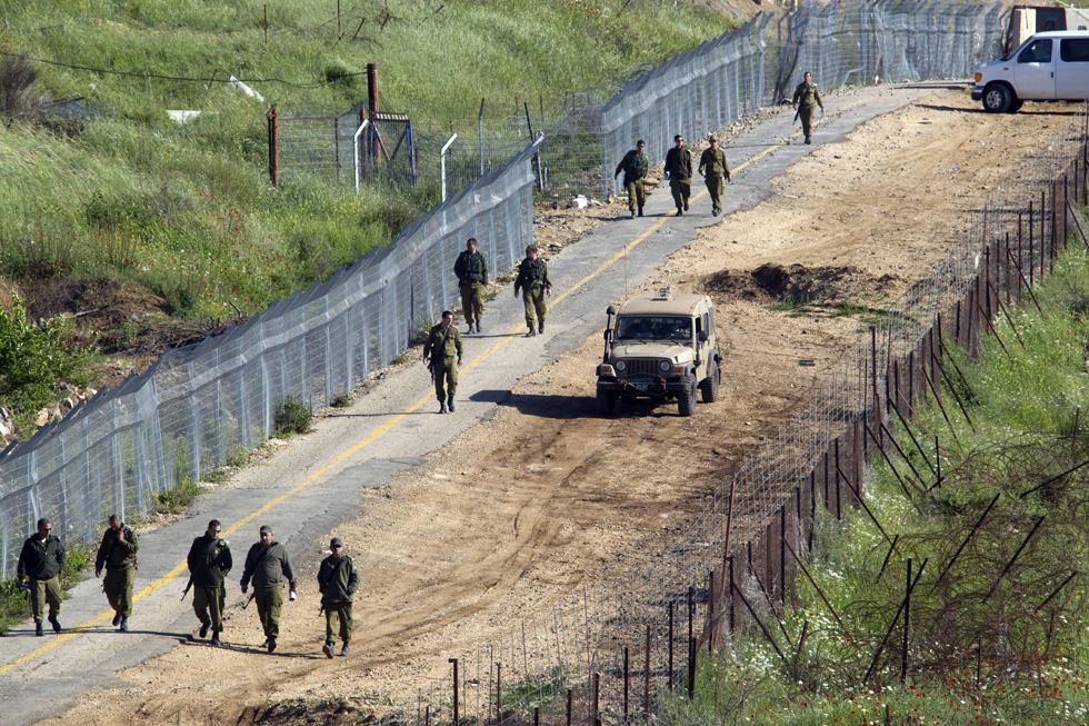 soldati israeliani nel Golan occupato