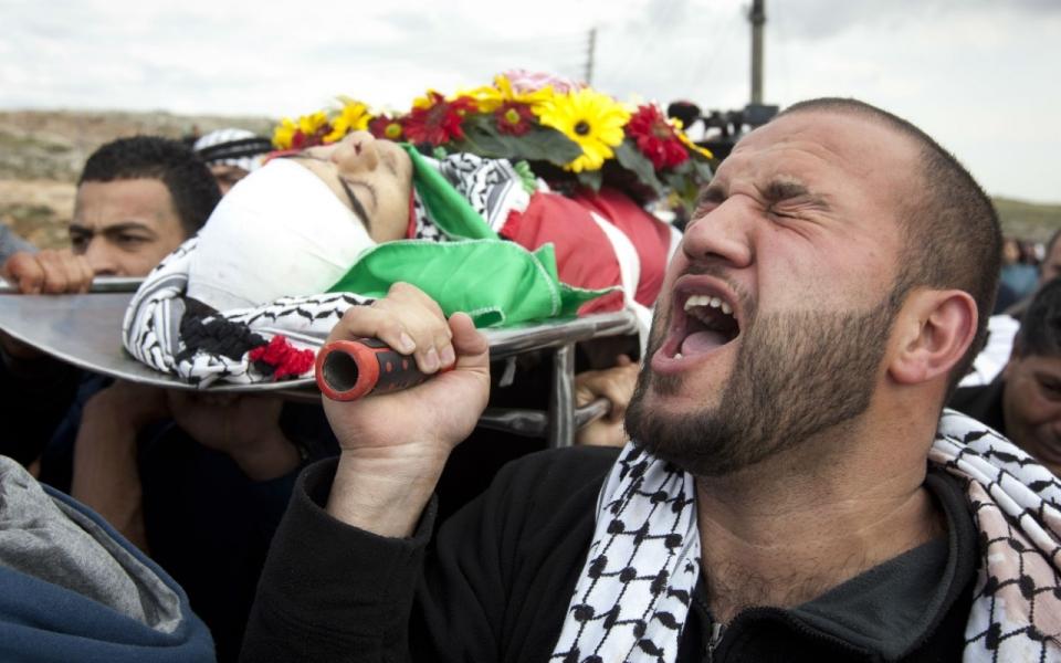 I funerali di Raed Zuaiter a Nablus