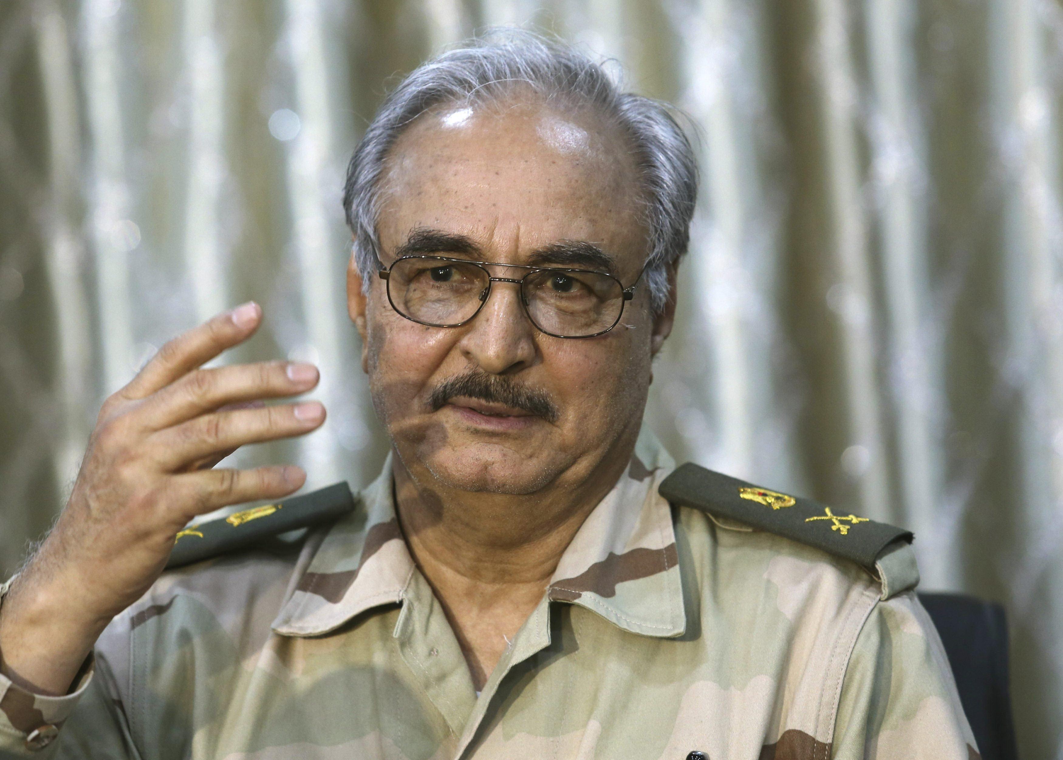 L'ex generale Khalifa Haftar