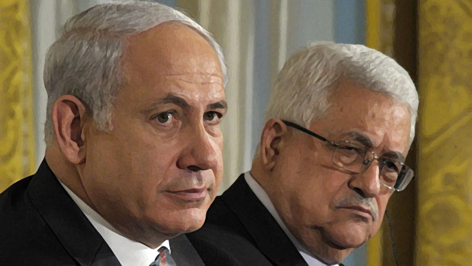 Il premier israeliano Netanyahu e il presidente palestinese Abu Mazen