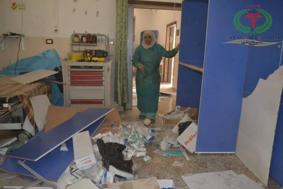 L'interno dell'ospedale di Bab al-Hawa