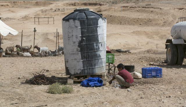 Il sito scelto per la costruzione della nuova township dio Nu'eimeh (Foto: Olivier Fitoussi)