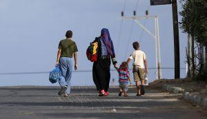 Palestinesi in fuga da Nord (Foto: AFP)