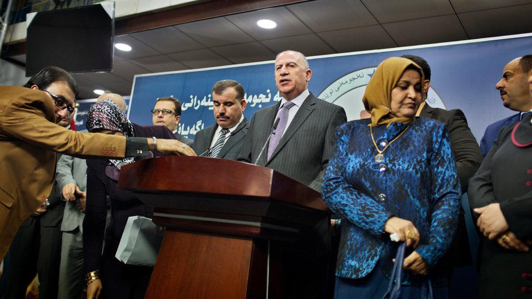 Usama al-Nujaifi, ex presidente del parlamento annuncia il nuovo stallo (Foto: Adam Ferguson/The New York Times)