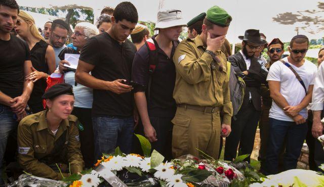 I funerali di un soldato morto a Gaza