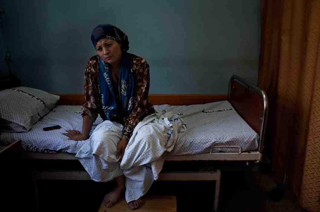 Il reparto di maternità dell'ospedale Shifa di Gaza (Foto: Loulou d'Aki)