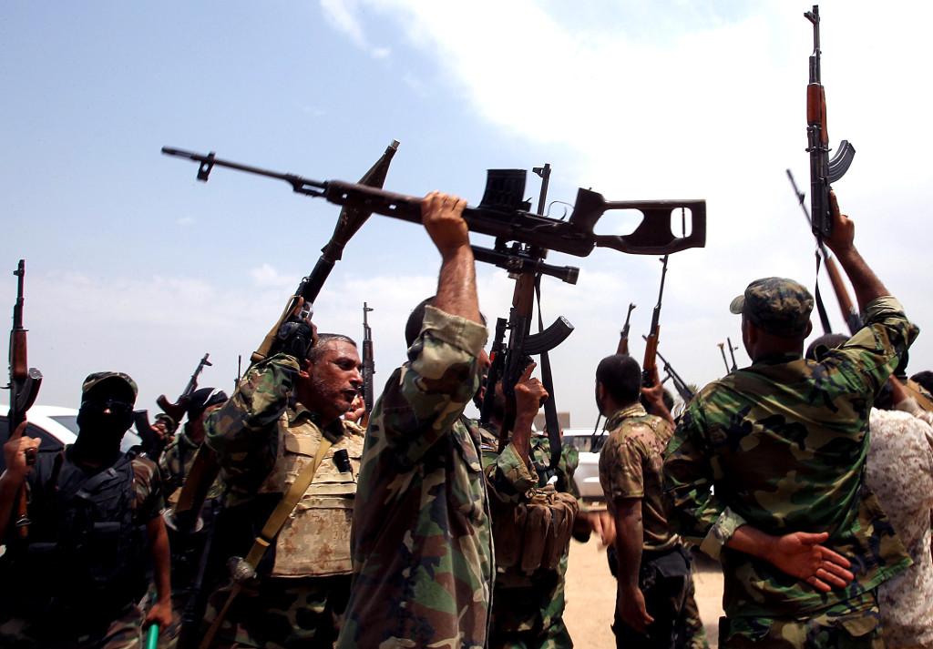 La milizia sciita Saraya al-Salam del religioso Moqtada al-Sadr (Foto: Ali Al-Saadi/AFP via Getty Images)
