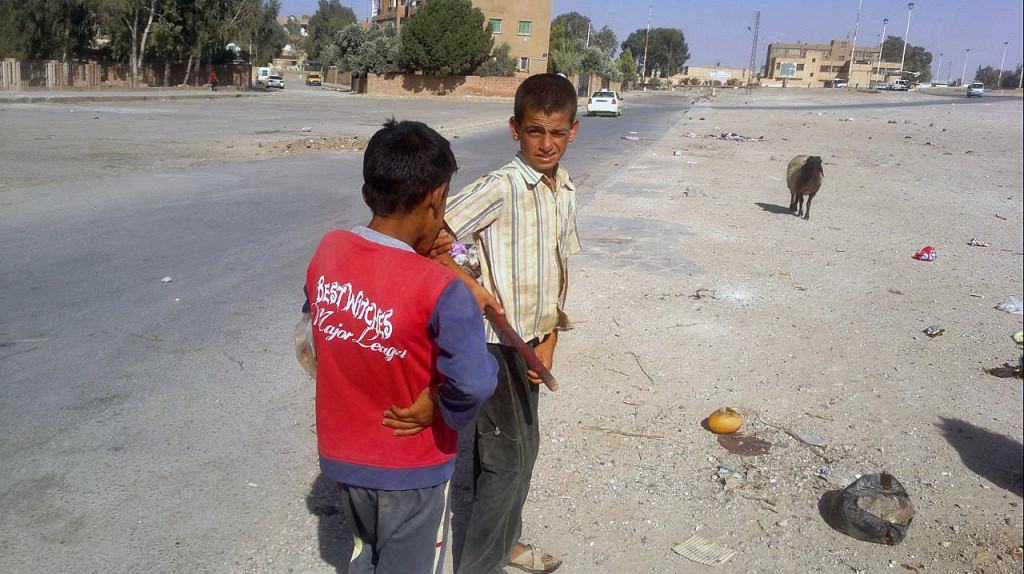 Al-Hasakeh (Syria) - Children look after the sheep - by Alan Ali