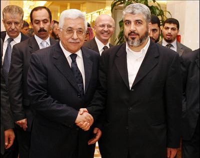 Mahmoud Abbas (a sinistra) con Isma'il Haniyeh