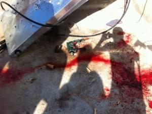 Il trapano con cui sarebbe stato torturato  Muataz Hijazi