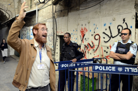 Il rabbino Yehuda Glick, foto di Sliman Khader/FLASH90