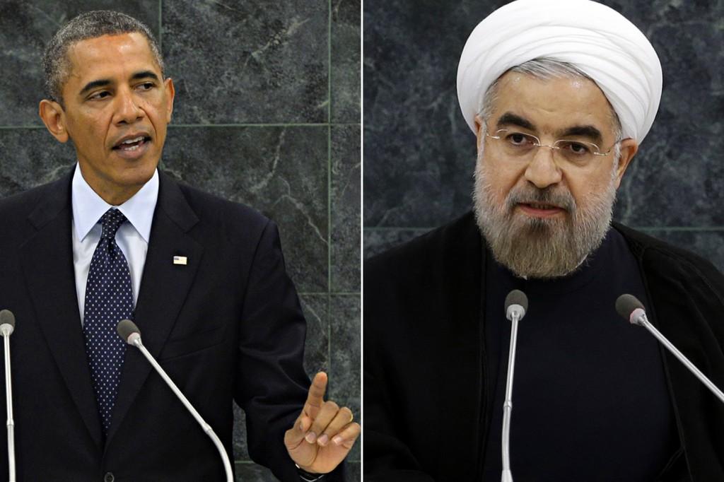 Il presidente Usa Obama e quello iraniano Rowhani