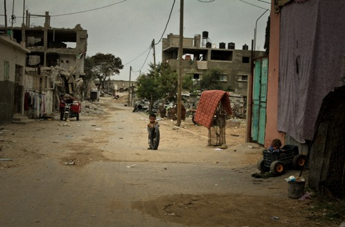 Beit Hanoun, distrutto dalle bombe israeliane (Foto: Luca Ricciardi)