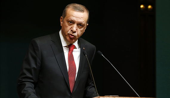 Turkey's President Tayyip Erdogan addresses the media during a news conference at the Presidential Palace in Ankara December 1, 2014. (REUTERS/Umit Bektas. Source: al-Monitor)