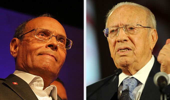 Moncef Marzouki (Left) and Beji Caid Essebsi (right)