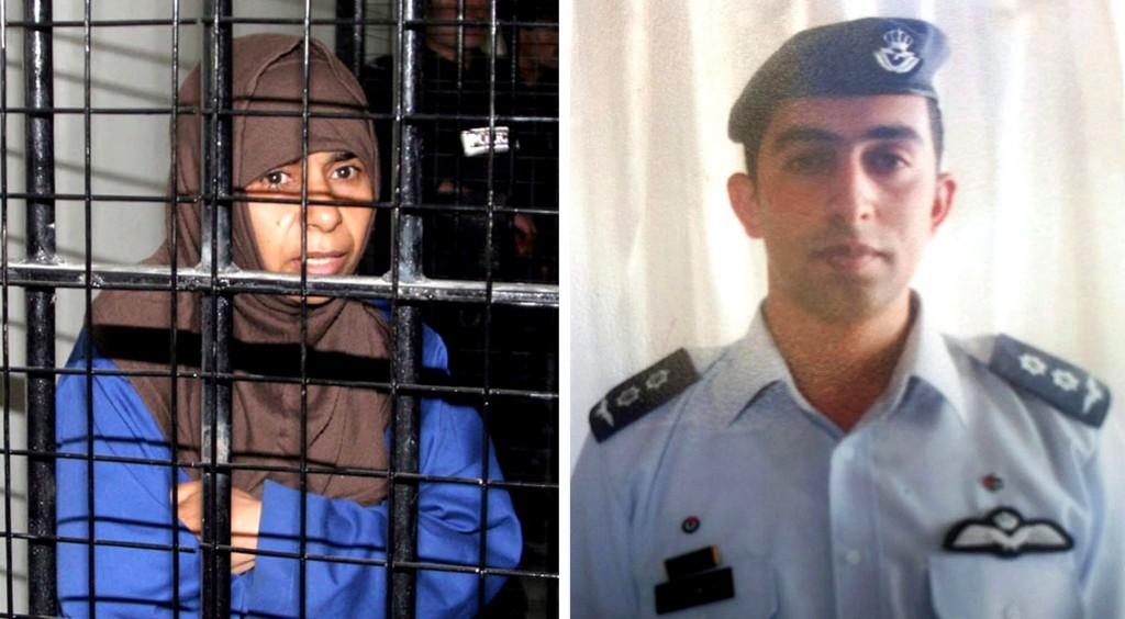 La qaedista al-Rishawi e il pilota giordano al-Kasasbeh