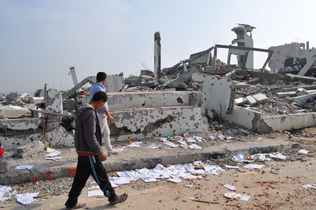Le macerie dell'ospedale El Wafa