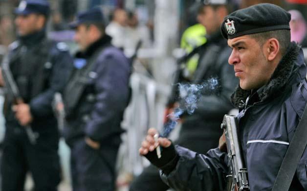 Polizia palestinese a Ramallah (Foto: AP Photo/Muhammed Muheisen)