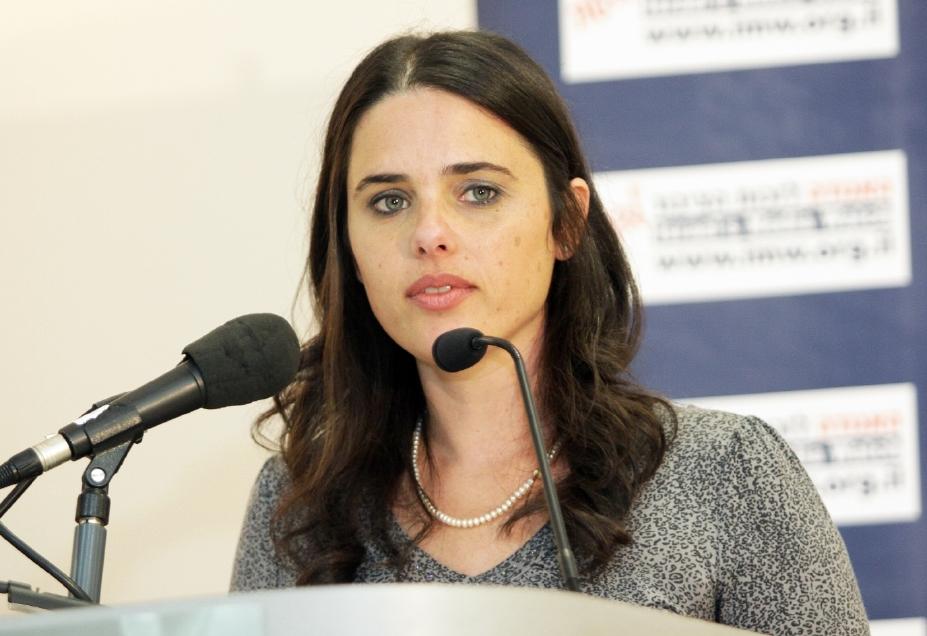 La ministra della giustizia e deputata di Casa Ebraica Ayelet Shaked (foto di Yoel Meltzer)
