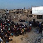 Sul red carpet a Gaza non star ma palestinesi senza casa