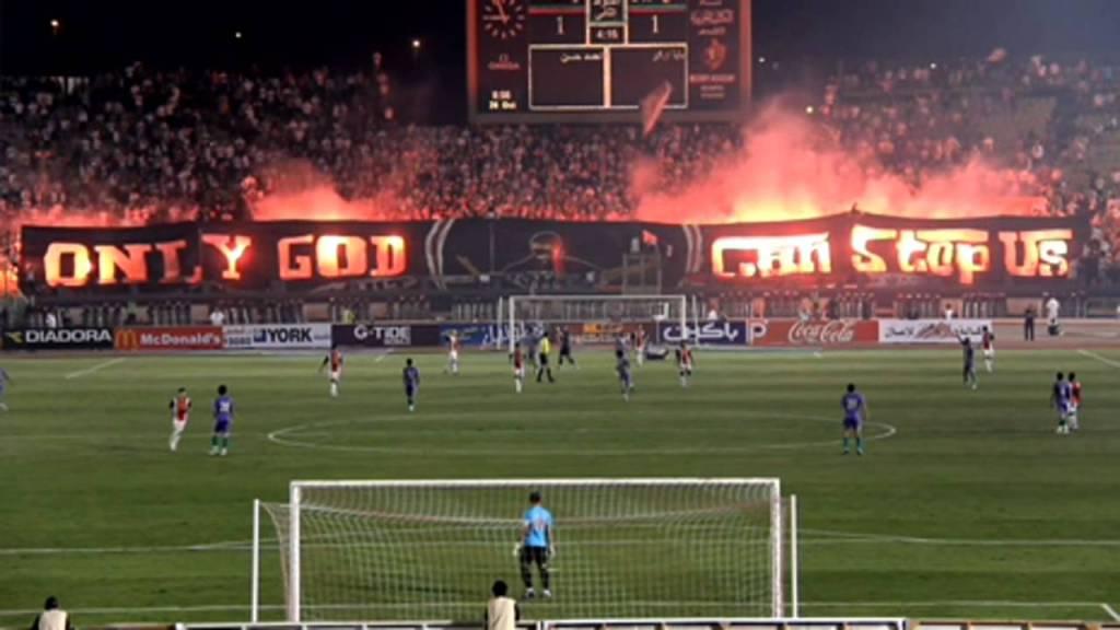 Coreografia degli Ultras White Knights durante la partita di Coppa egiziana Zamalek-Gaish, 2011