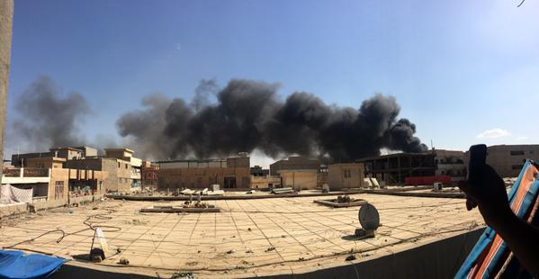 Il quartier generale del governo a Ramadi preso dall'Isis (Fonte: The Long War Journal)