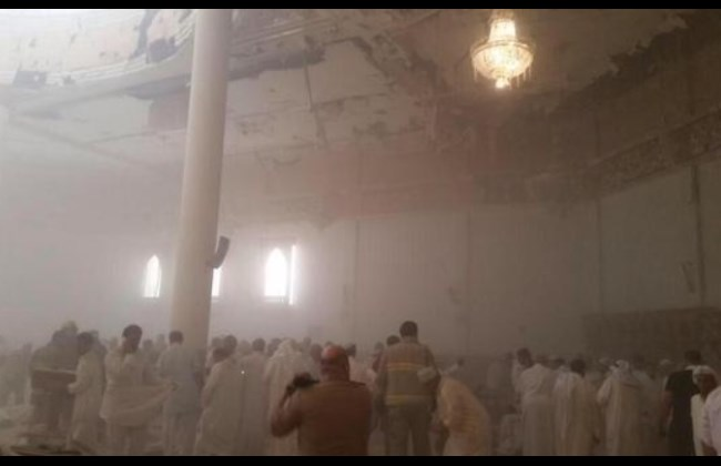 Attacco moschea Kuwait City - Foto Twitter