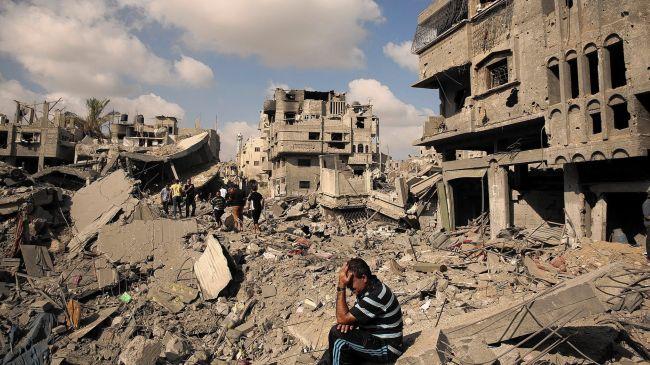 Uno dei quartieri di Gaza distrutto da Israele durante l'offensiva Margine Protettivo della scorsa estate