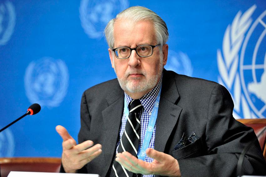 Paulo Pinheiro, capo della commissione d'inchiesta dell'Onu.