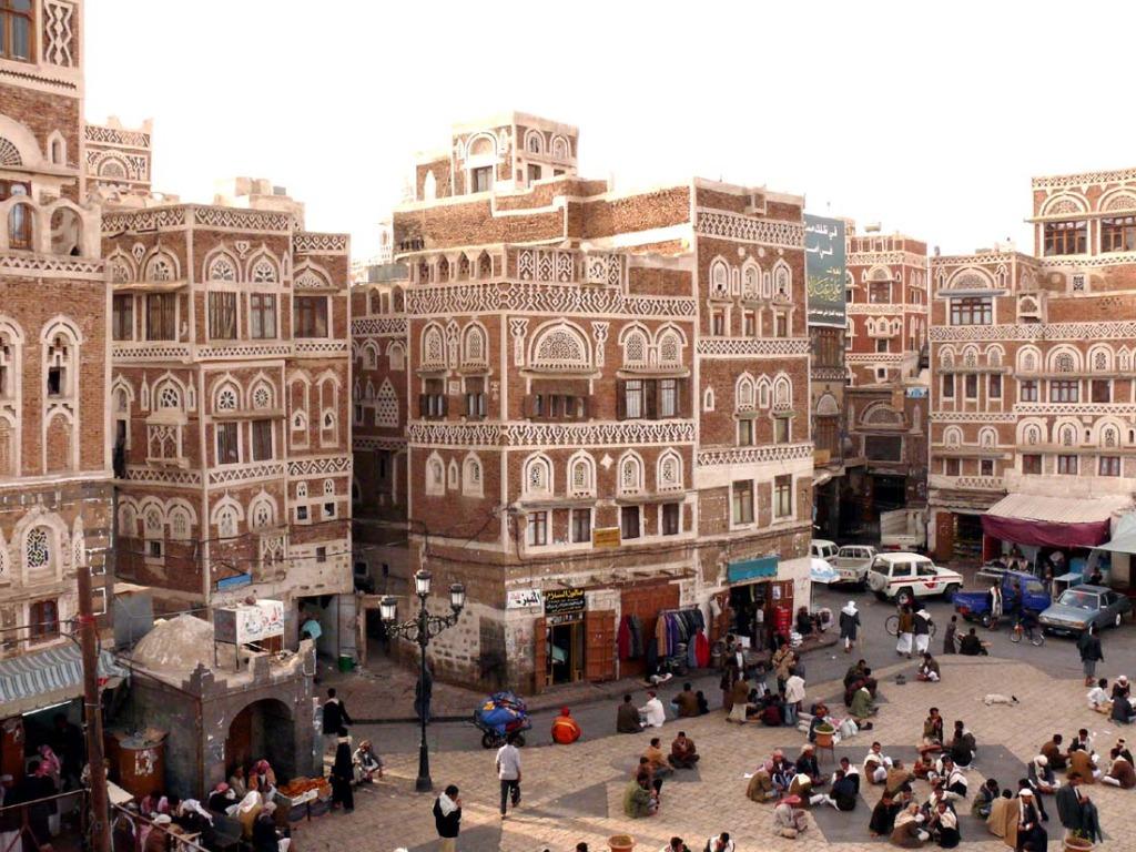 Le case antiche nel centro di Sanaa'