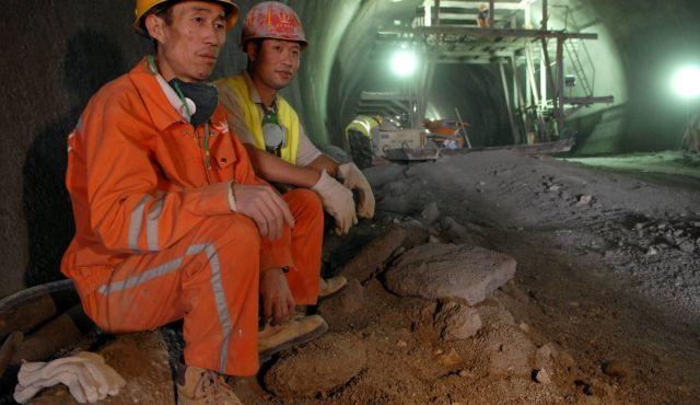 Lavoratori cinesi nel settore delle costruzioni in Israele