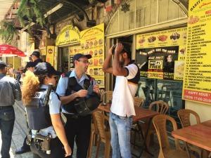 Polizia israeliana dispiegata in tutta la Città Vecchia (Foto: Michele Giorgio/Nena News)