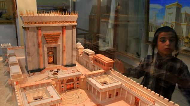 Riproduzione del secondo Tempio all'Istituto del Tempio di Gerusalemme (foto di Nati Shohat/Flash90)