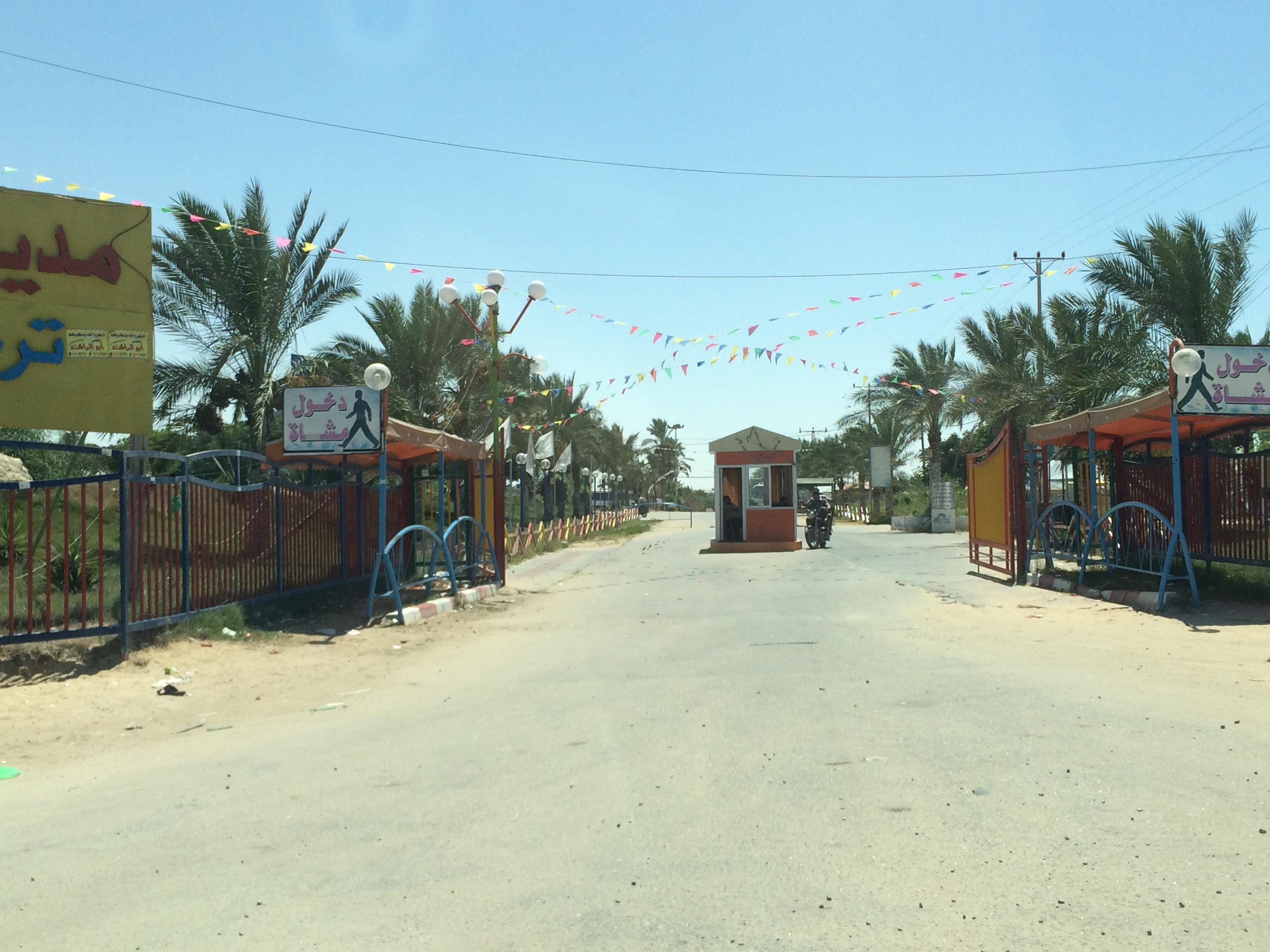 Gaza. Un parco giochi sorge su una delle aree un tempo occupate dai coloni israeliani. Foto di Federica Riccardi