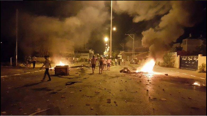 Gli scontri di ieri notte a Jenin (Fonte: Twitter)
