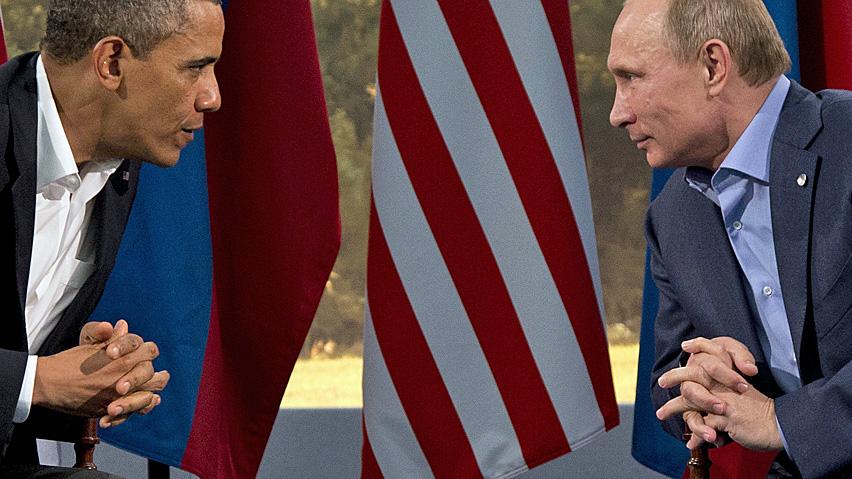 Obama e Putin al G8 (Foto: Reuters)