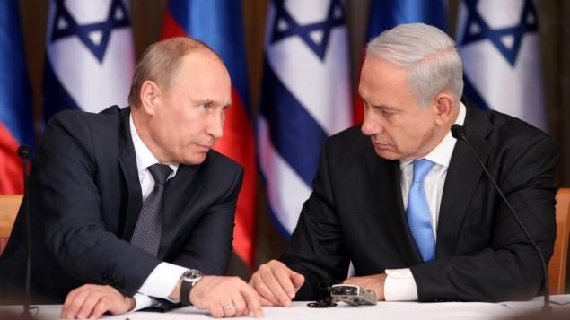 Il presidente russo Putin e il premier israeliano Netanyahu (Foto: Marc Israel Sellem/POOL/FLASH90)