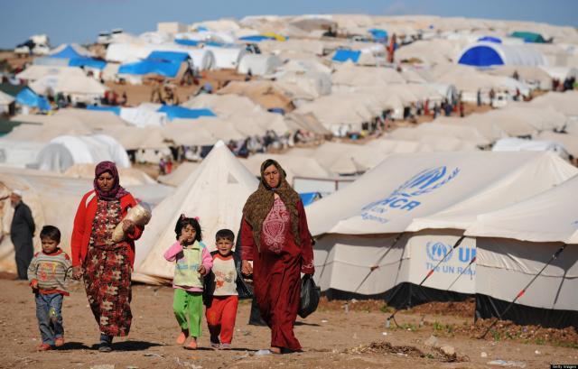 Profughi siriani in un campo delle Nazioni Unite (Foto:  cskc.daleel-madani.org)