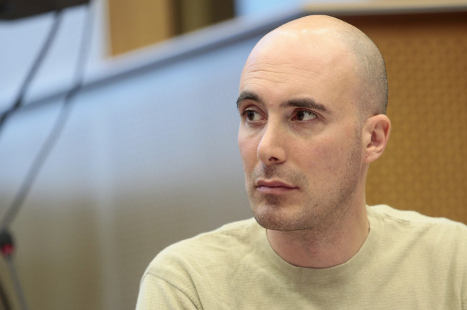 Il giornalista israeliano David Sheen (Fonte: Flickr)
