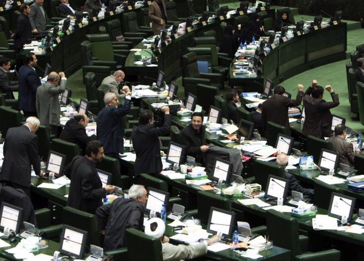 Il Majles durante la votazione (Foto: Reuters)