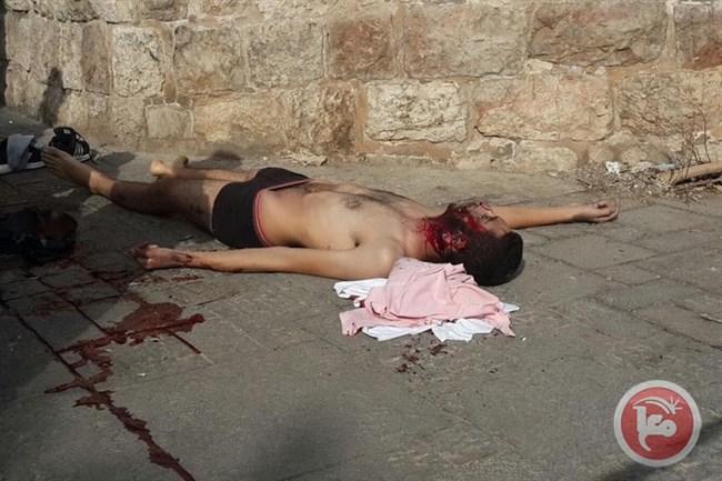 Il giovane ucciso stamattina a Gerusalemme (Fonte: Ma'an News)