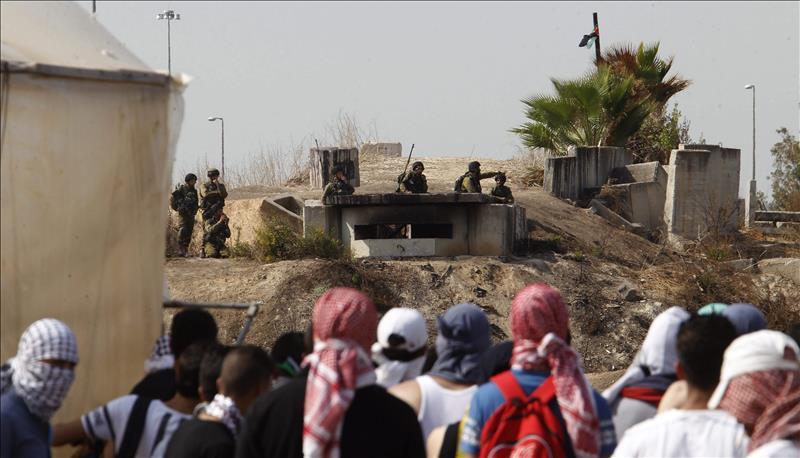 Scontri a Tulkarem (Foto:  EFE / Alaa Badarneh)