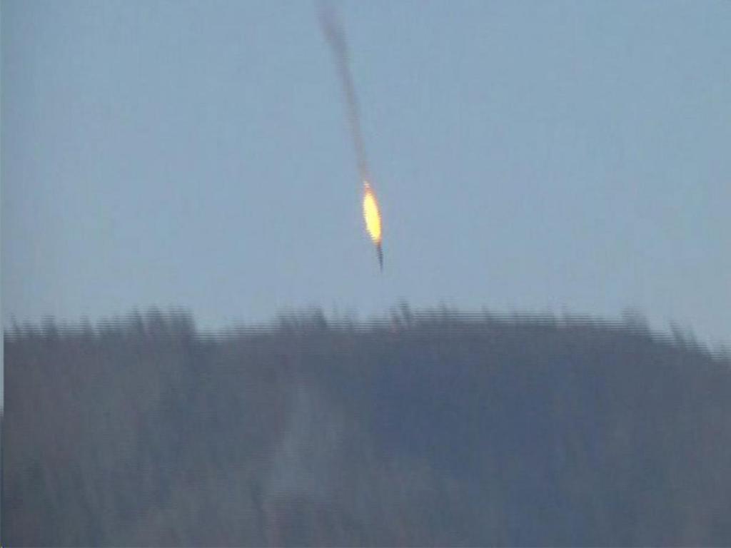 La prima immagine dell'abbattimento del jet russo
