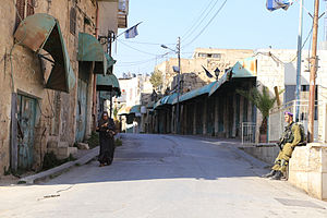 Shuhada_Street,_Hebron_checkpoint