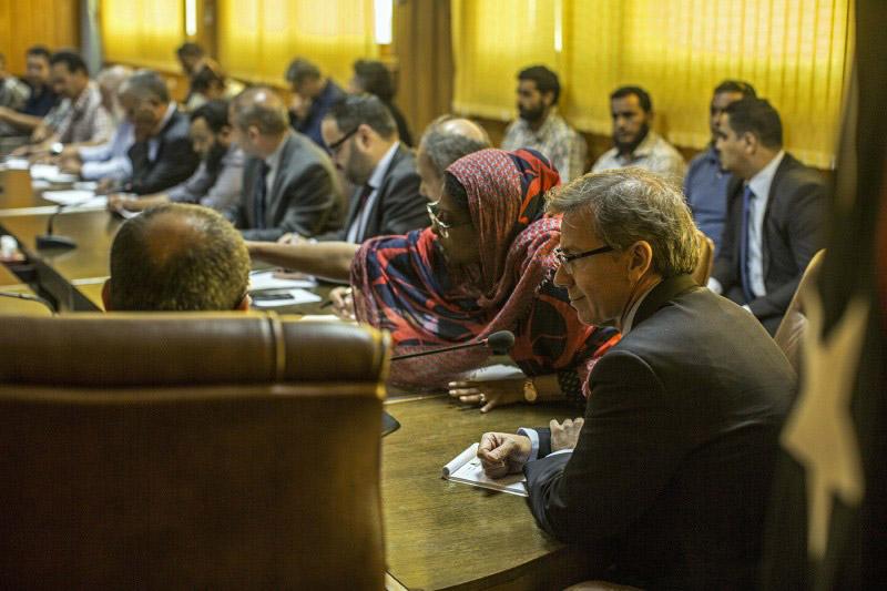 L'inviato Onu per la Libia Léon, durante un meeting a giugno (Fonte: Onu)