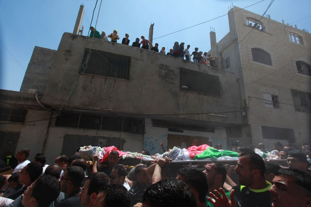 Funerale a Qalandiya (foto archivio)